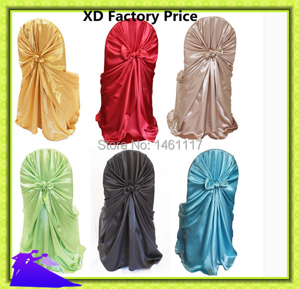 100pcs cheap universal wedding chair covers wholesale universal satin chair covers wholesale self