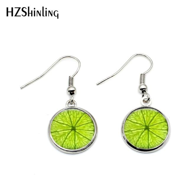 cc16c5388b03 Pendientes de anzuelo de frutas verdes de fruta de Lima NHE-004 pendientes  colgantes de