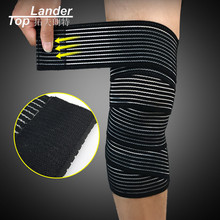 1pc Elastic Knee Bandage Support Bandages sport Cycling Volleyball Basketball Gym Weight Lifting Knee Wraps(China)