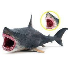 Ocean Sea Life Marine Animals Megalodon Shark Action Figure Model Educational Learning Gift