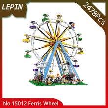 Lepin 15012 Especialista Modelo Roda Gigante Da Cidade 2478 pcs Kits de Construção de Blocos de Tijolos Brinquedos Compatíveis 10247 Doinbby Loja