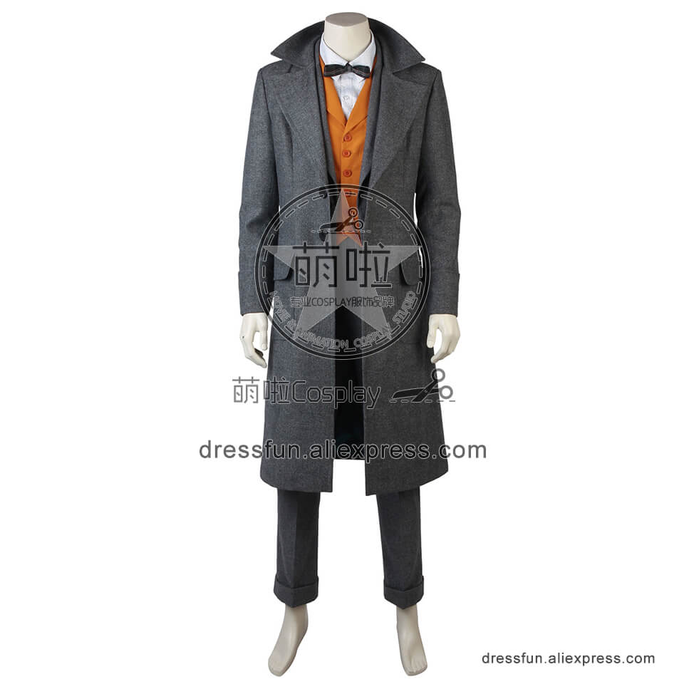 Fantastic Beasts and Where to Find Them Cosplay Costume Newt Scamander Full Set Party Fast Shipping Halloween