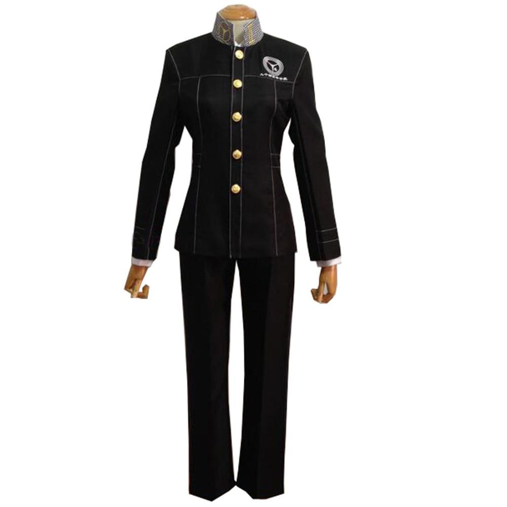 Persona 4 P4 Cosplay School Boy Uniform Costume Yu Narukami Anime Costumes Shin Megami Tensei Women's Costumes