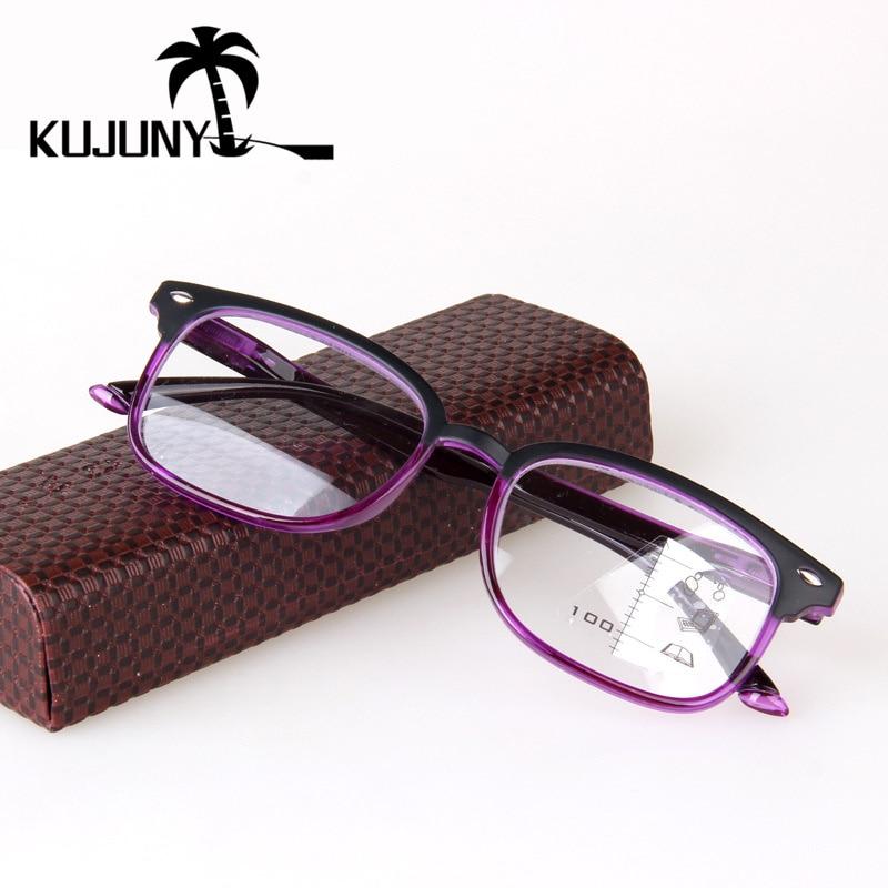 1509f66bd KUJUNY Transição Progressiva Multifocal Óculos Leitor Óculos de Leitura  Para As Mulheres Retro Homens Hipermetropia Óculos Bifocais