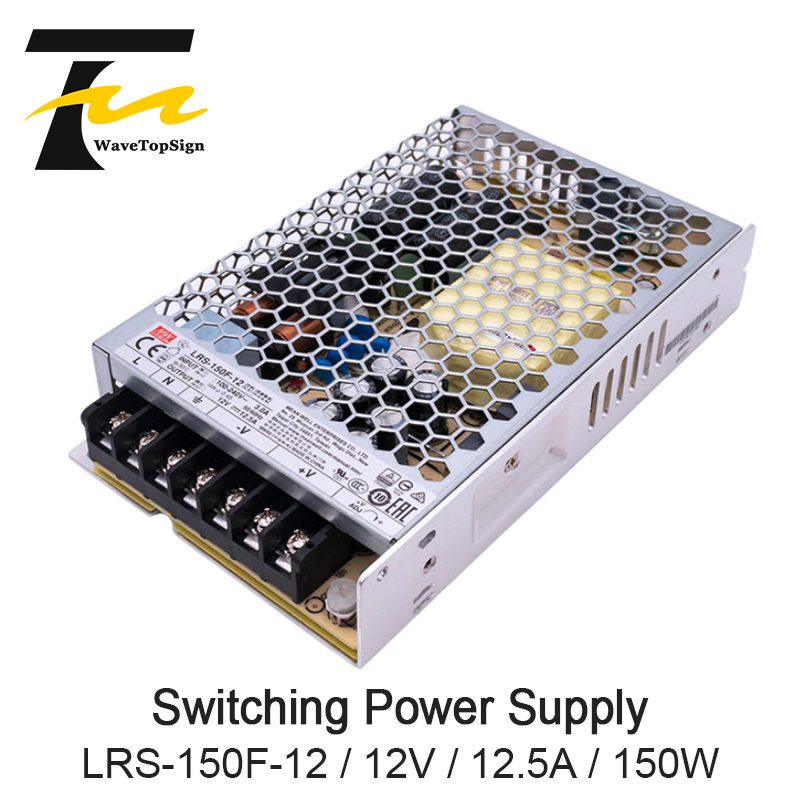 WaveTopSign LRS 150F 12 12V 12.5A meanwell LRS 150F 12V 150W Single Output Switching Power Supply