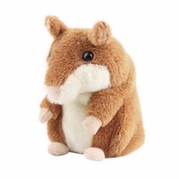 Lovely Free Shipping Talking Hamster Plush Toy Hot Cute Speak Talking Sound Record Hamster Talking Toys