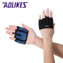 AOLIKES 2Pcs 1Pair Anti skid Men Women Gym Gloves Body Building Exercise Training Sports Fitness Gloves