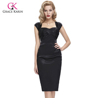 Black Blue Knee Length Cocktail Dress Cap Sleeve Pleated Satin Hips Wrapped Short Mother Of The