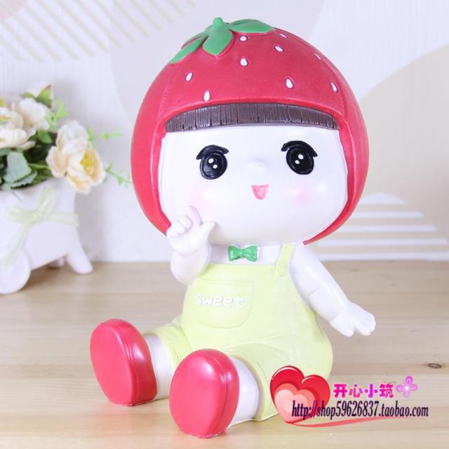 cute home protection ideas. Strawberry Girl doll cute piggy bank money pot gift  ideas Free shipping