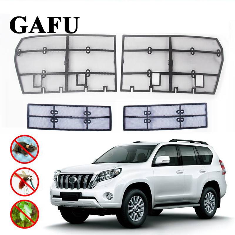 Car Styling For Toyota Land Cruiser Prado 2018 2019 FJ 150 Grille Insect Screening Mesh Front Grille Net Accessories-in Interior Mouldings from Automobiles & Motorcycles