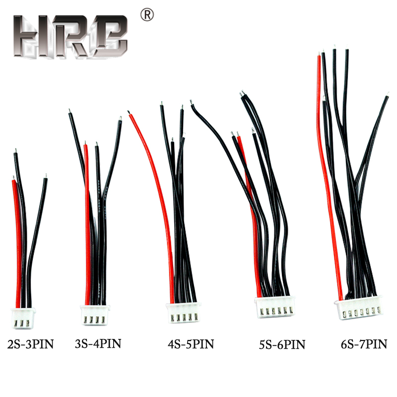 5pcs Balance Charge Female Wiring JST-XH Lines JST XH 3Pin 4Pin 5Pin 6Pin 7Pin Plug Cables 2S 3S 4S 5S 6S Lipo Battery RC Parts image