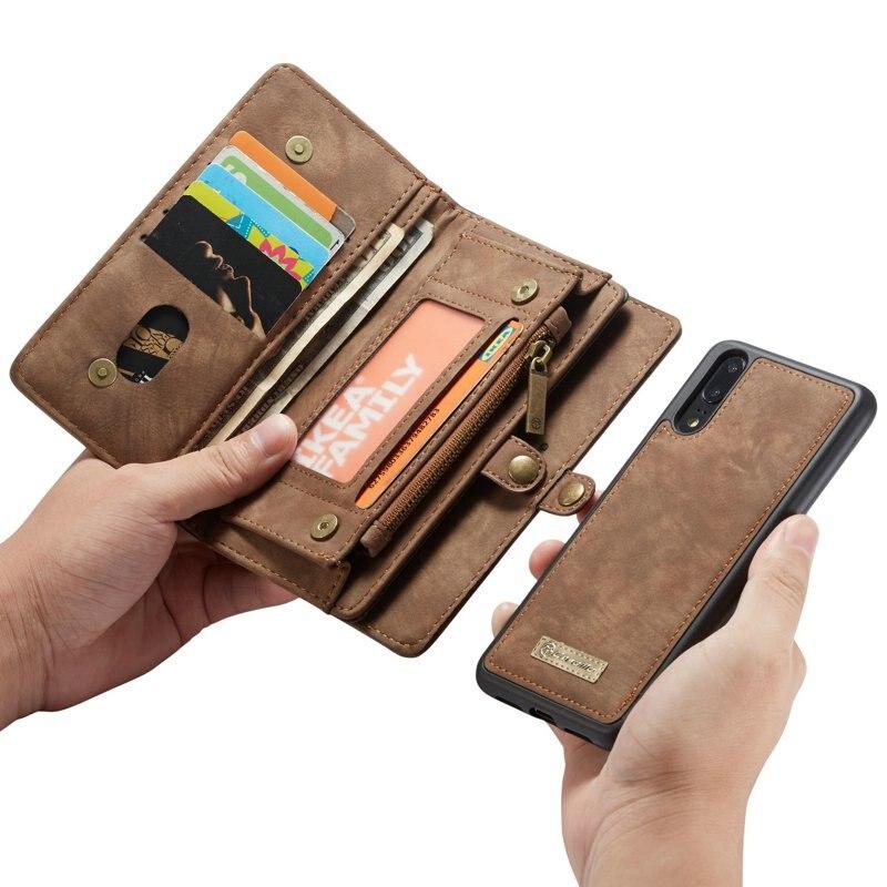 Couro de luxo caso da aleta para hawei mate20 p30 p20 pro lite nova 4e 3e funda etui carteira acessórios capa do telefone concha coque sacos
