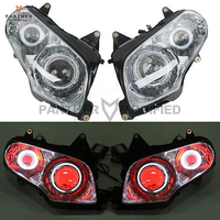Motorcycle Angel Demon Eye Fully Complete Headlight Assembly case for Honda GL1800 F6B 2001 2014