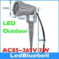 LED Landscape Light 3x1w High Power Outdoor Garden Spot Lamp AC85 265V Input Color Red Green