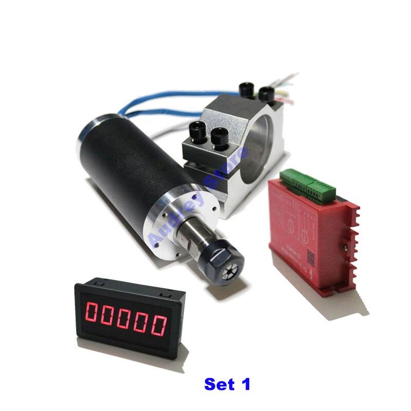 250 W DC24V 12000 tr/min moteur de broche sans brosse 0.25N.m support tachymètre pour Mini machine de gravure broche trou de forage