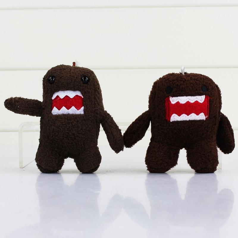 4/'/' BROWN DOMO KUN Plush Keychain Soft Doll Stuffed Toy Pendant Key Ring Gift