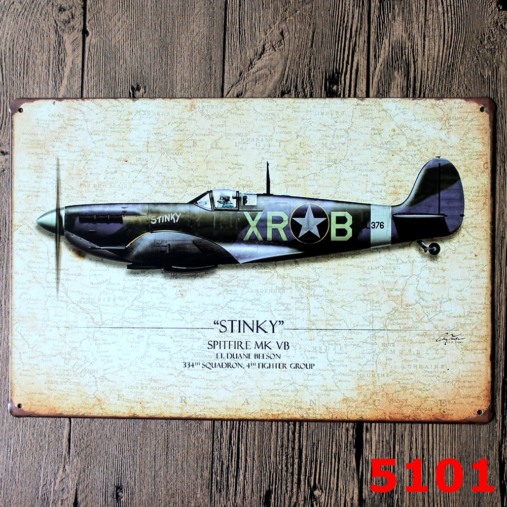 WWII bombardment aircraft Vintage Home Decor Tin Sign Wall Decor Metal Sign Vintage Art Poster Retro PlaquePlate