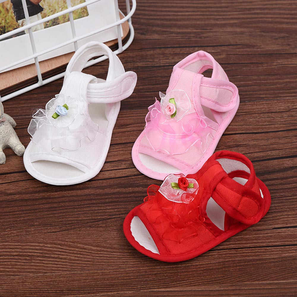 Newborn Baby Girl Shoes Fashion Crib Shoes Comfortable Soft Sole Anti-slip Sneakers Flower Affordable chaussure bebe fille