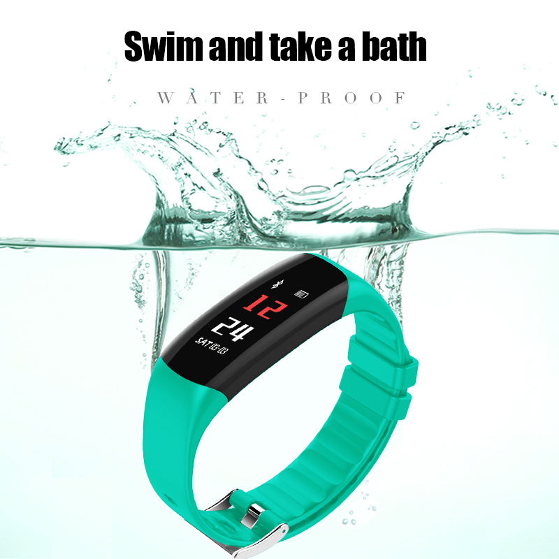 New Heart Rate Monitor Bluetooth Smart Band Blood Pressure P7 Sport Wristbands 0.96 Color Display Healthy Activity Tracker