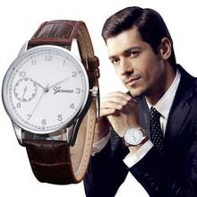 2016 Watch Women Men Retro Design Attractive Dial PU Leather Band Analog Alloy Quartz Wrist Watch relogios feminino hour CLAUDIA