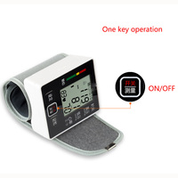 Rehargeable Wrist Blood Pressure Monitor LCD Digital Sphygmomanometer Health Care Heat Rate Charge Adult Blood Pressure