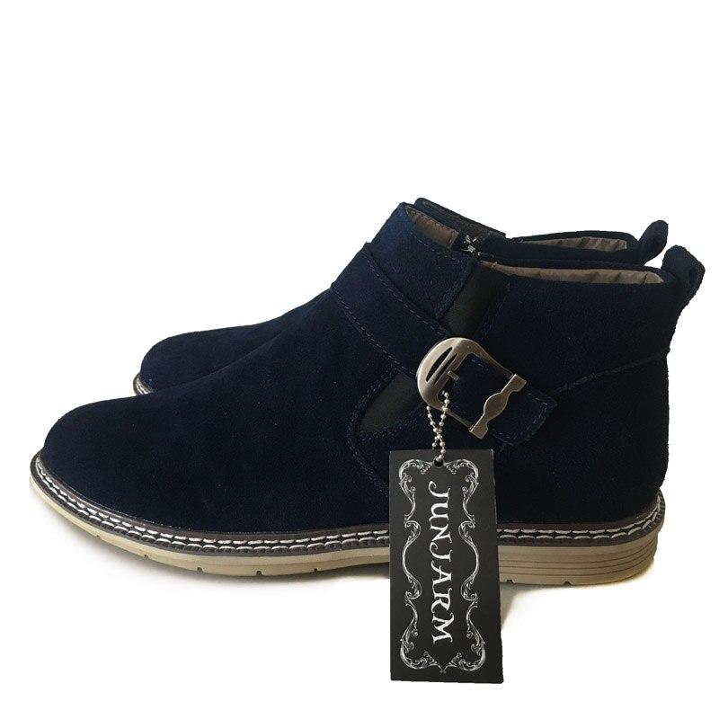 En gray Bottes Chaud Chelsea Chaussures Fur Bottines 2019 Hommes Mode brown Cuir With VéritableHomme Fur Junjarm Air 47 gray D'hiver Fur Plein Blue brown blue Supérieure Qualité 9DIEH2WY