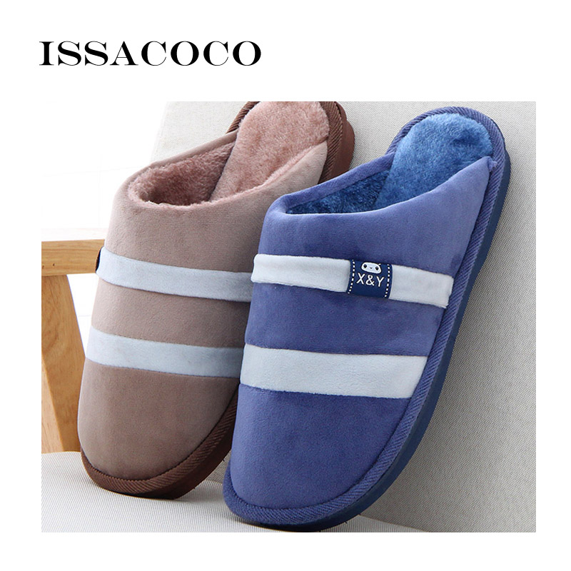 ISSACOCO Slippers Heren Winter Katoenen Slippers Heren Schoenen - Herenschoenen - Foto 3