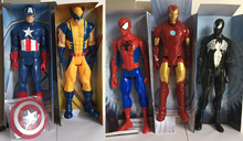 Vogue Marvel Titan Super Hero Wolverine Avengers Captain America Ultimate Spider-Man Assemble Iron Man 29cm huge Action Figure marvel universe ultimate spider man