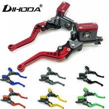 Levier de frein et embrayage hydraulique avec maître cylindre, 22 mm, pour guidon de moto de course Yamaha, Kawasaki, Suzuki, Honda