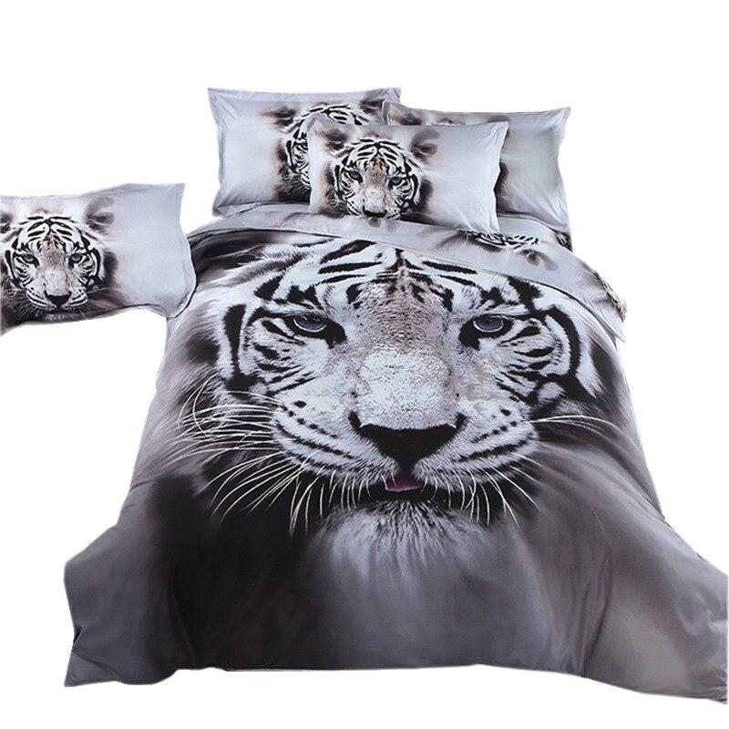 Tigre Animale Biancheria Da Letto Set Copripiumino King/Queen Size