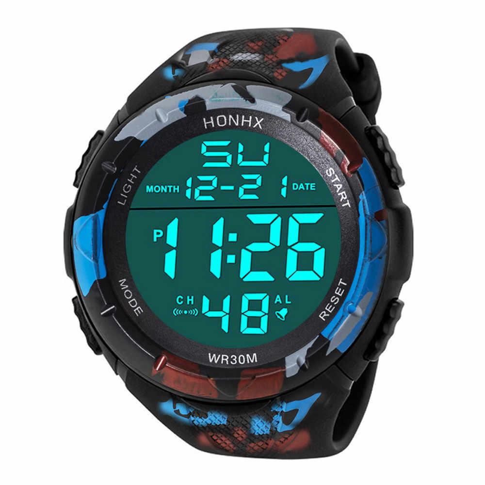 Gemixi relógio digital esporte de luxo masculino analógico digital exército militar led à prova dwaterproof água relogio relógio de pulso digital dropship