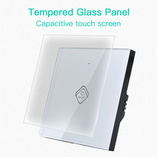 KTNNKG 1/2 Gang 1 Way Touch Switch Crystal Glass Panel LED Light Touch Screen Switch EU 110V-220V Lamp Touch Sensor Wall Switch 1 2 3 gang 1 way touch switch crystal glass panel led light touch screen switch eu uk ac 110v 220v touch sensor wall switch