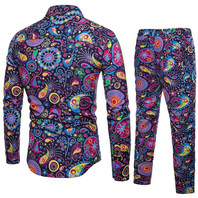 Flower Patterned Men's Suit