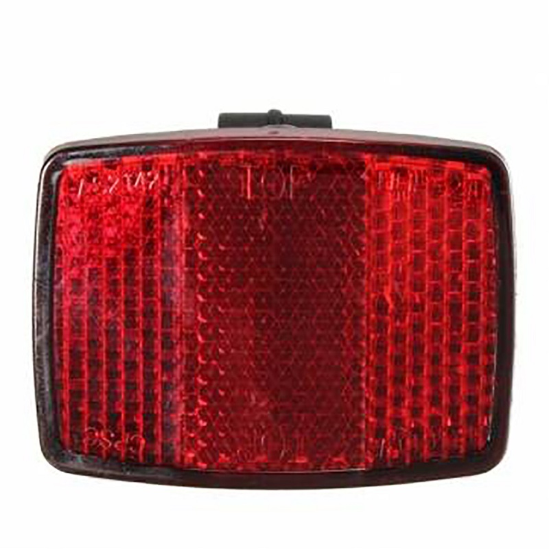 Mountain Bike Saddle Reflector Light Bicycle Rear Taillight Accessories Bicycle Safety Reflective Sheet Seat Tube