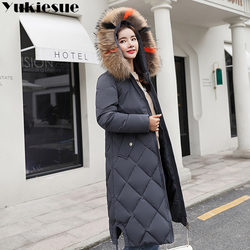 2018 New Winter Jacket Women Faux Fur Hooded Parka Coats Female Long Sleeve Thick Warm Snow Wear Jacket Coat Mujer Quilted Tops 4