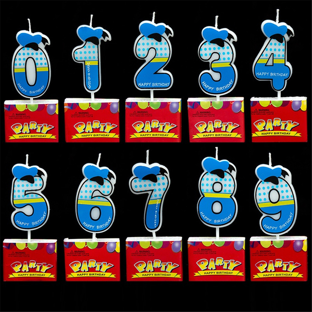Kids Baby Number Birthday Cake Candle 0 1 2 3 4 5 6 7 8 9 Anniversary Numbers Age Party Supplies Wedding Decoration