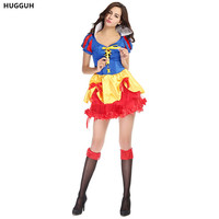 Real Sexy Female Halloween Masquerade Fancy Fairy Tale Disfraces Snow White Cosplay Costumes Sexy Role Play