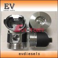 Für Yanmar motor 4TNV84 4TNV84T pitson mit kolben pin und clip Kolben  Ringe  Stäbe & Teile Kraftfahrzeuge und Motorräder -