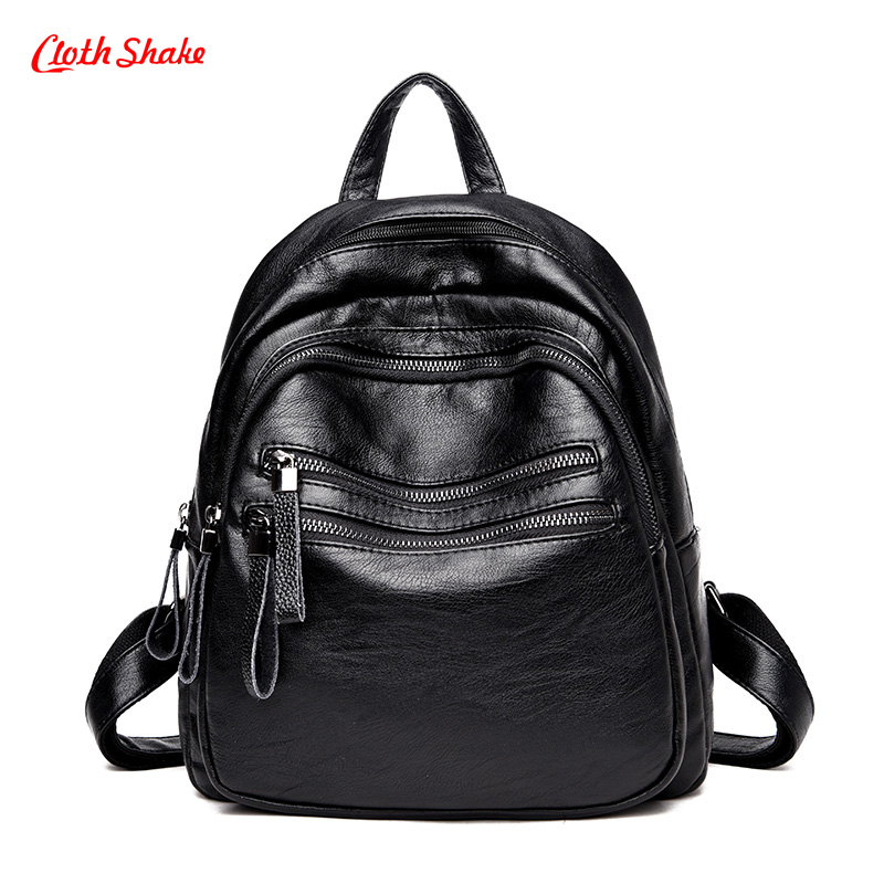 New Backpack Women High quality PU Leather Bag Women Bag Multi pocket Women Backpack Mochila Feminina