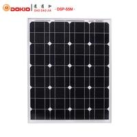 Dokio Brand Solar Panel 55W Monocrystalline Silicon Solar Battery China 18V 690*540*25mm Size Paneles Solares China  DSP-55M