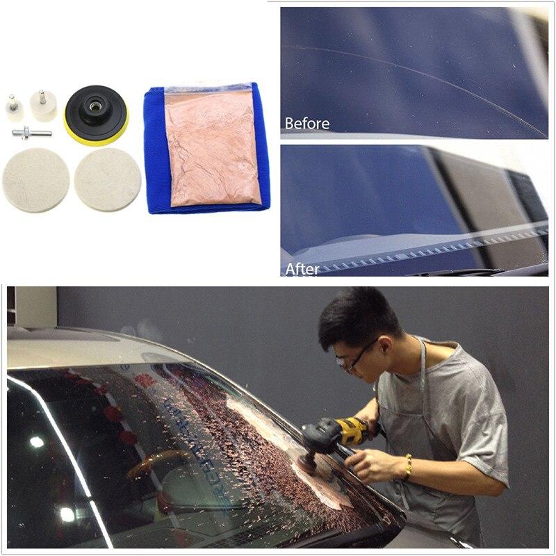 Neue 1 satz Universal Auto Windschutz Fenster Scratch Reparatur Entferner Glas Polieren Kit Auto Polieren & Schleifen Materialien Werkzeuge