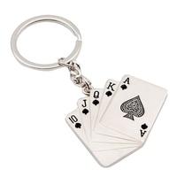 10 20pcs Creative Poker Keychain Male Personality Metal Key Chains Key Fob Rings Keyrings Car Accessories
