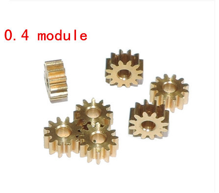 10PCS Wholesale spindle metal gear 0 4 modulo 12 tooth DIY model toy car accessories aperture