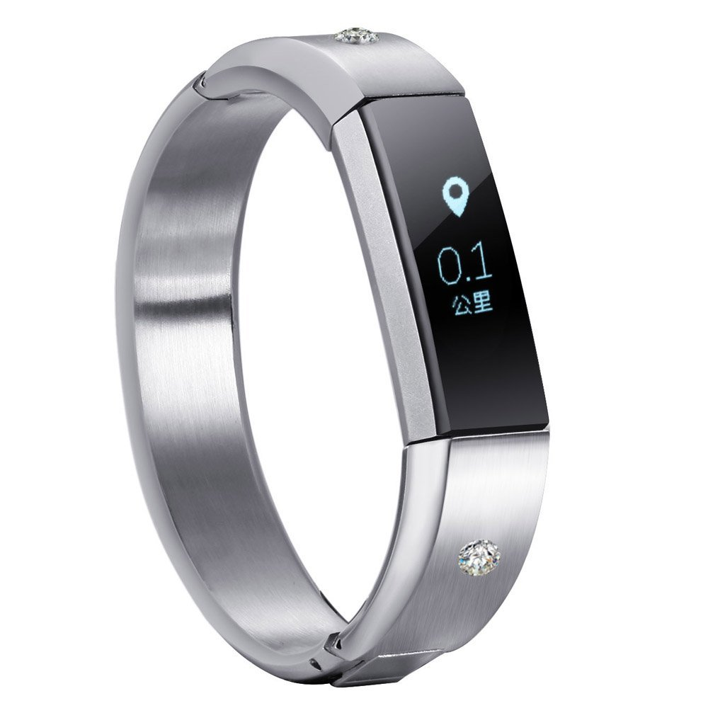 V-Moro Jewelry Bangle for Fitbit Alta HR and Alta Bands Metal 316L Stainless Steel Bracelet Bands Jewelry Accessory modern fashion furniture handles white red resin kitchen cabinet wardrobe door handle pull silver chrome drawer pulls knobs 96mm