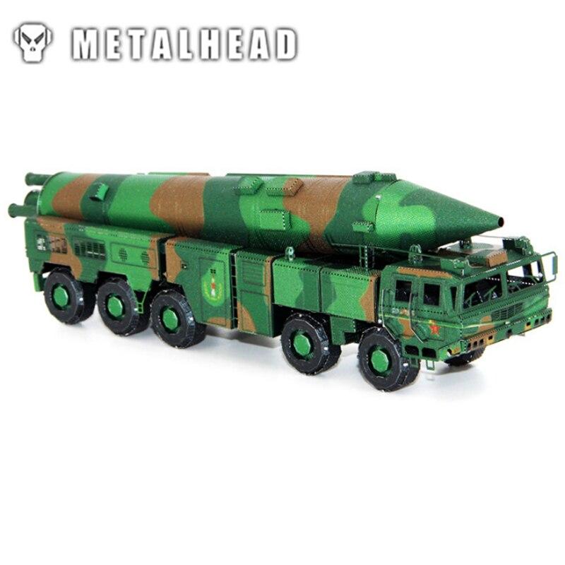 Dongfeng missile-couleur 3D Kits en métal modèle Puzzle bricolage Collection cadeau d'anniversaire Puzzle enfants adultes manuel voiture Articles jouets modèle