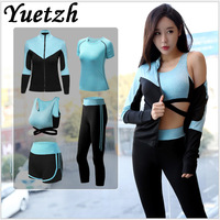 New women's sports suits women sport suit sportswear track suit running dry gym fitness tracksuit suits outdoor climbing wear