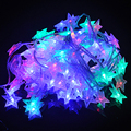 10 Metros 100 LED Estrella Cadena Guirnalda Al Aire Libre Luces de Navidad Decoración de Navidad Luces de la Secuencia del banquete de Boda