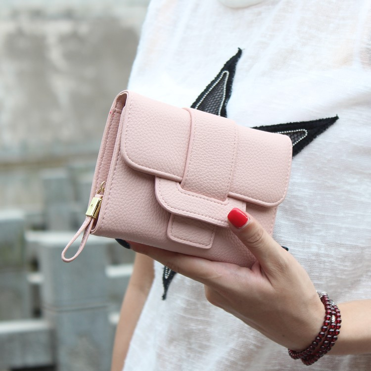 New Luxury Soft PU Leather Women Hasp Wallet Fashion Tri-Folds Clutch For Girls Coin Purse Card Holders Female Purse Money Bag
