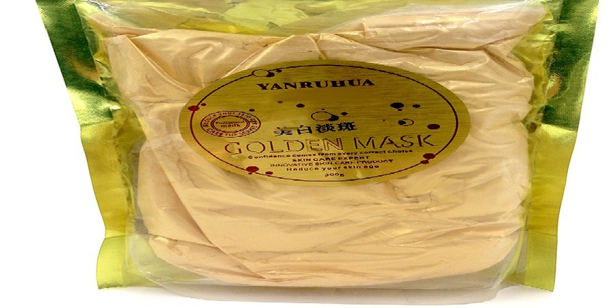 24K GOLD Active Face Mask Powder Brightening Luxury Spa Anti Aging Wrinkle 24K Gold Mask Powder Treatment Facial Mask 300G 10