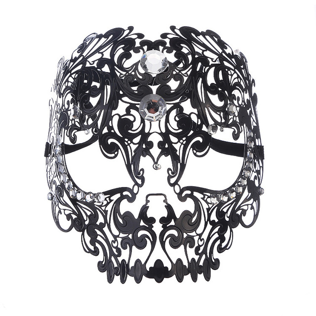 Diamond Ball Full Face Mask Metal Filigree Halloween Skull Rhinestone Mask Venetian Costume Masquerade Tiger Head  sc 1 st  AliExpress.com & Diamond Ball Full Face Mask Metal Filigree Halloween Skull ...